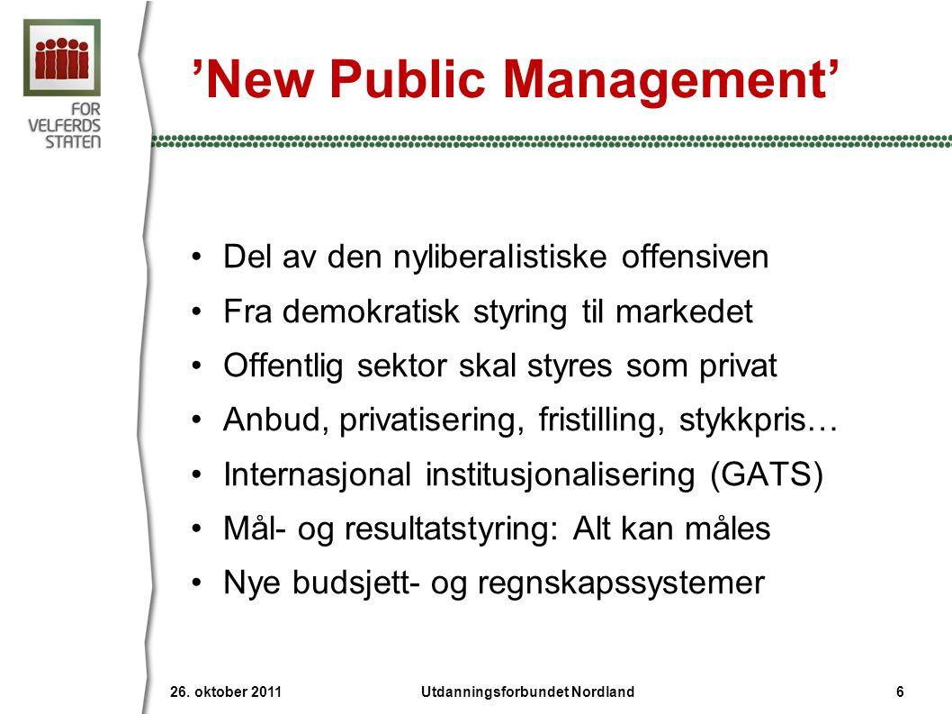 'New Public Management'