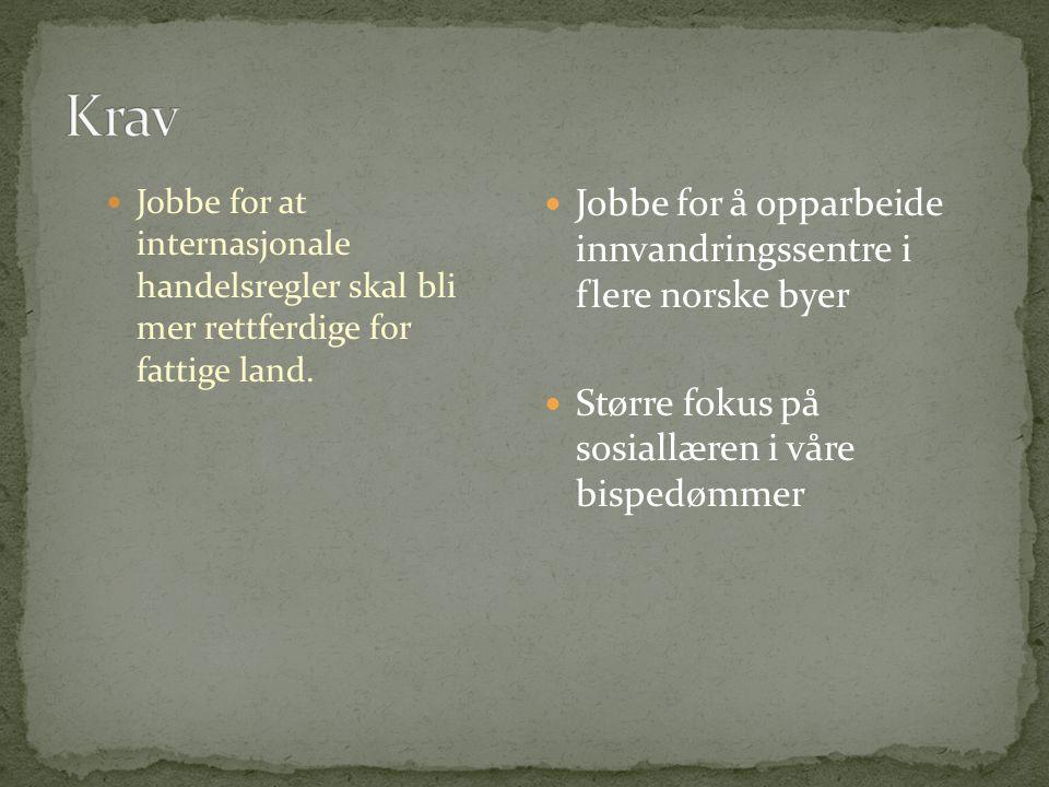 Krav Jobbe for å opparbeide innvandringssentre i flere norske byer