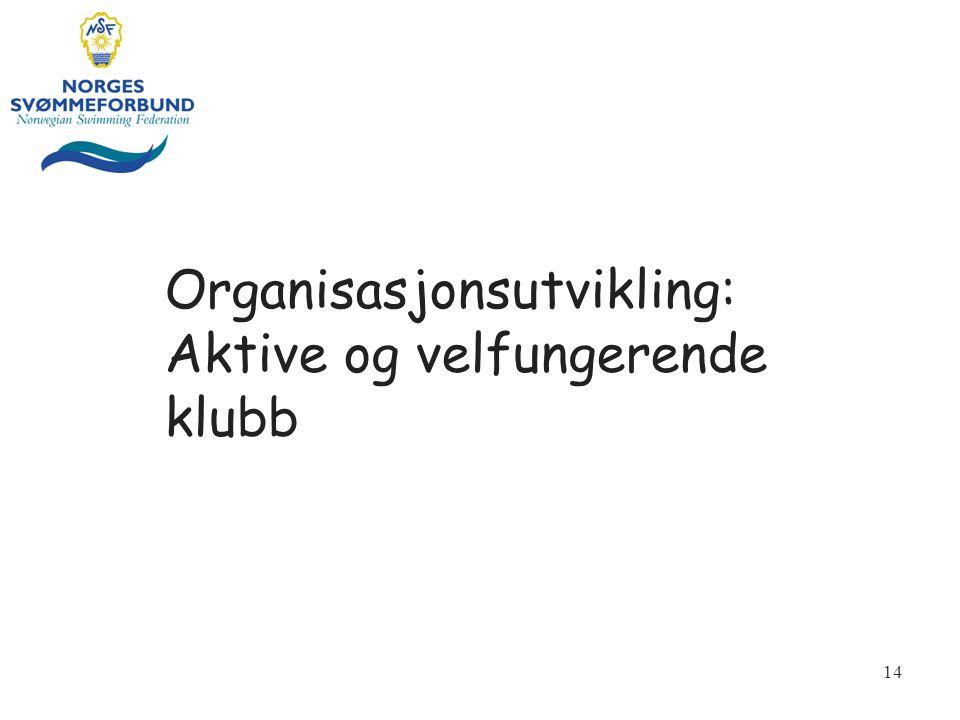 Organisasjonsutvikling: Aktive og velfungerende klubb
