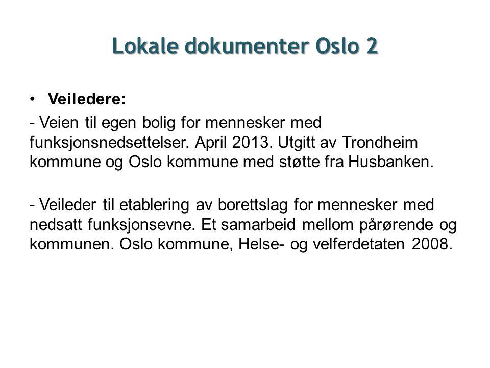 Lokale dokumenter Oslo 2