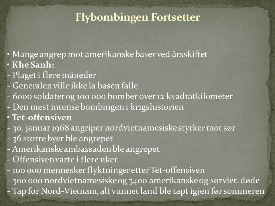 Flybombingen Fortsetter