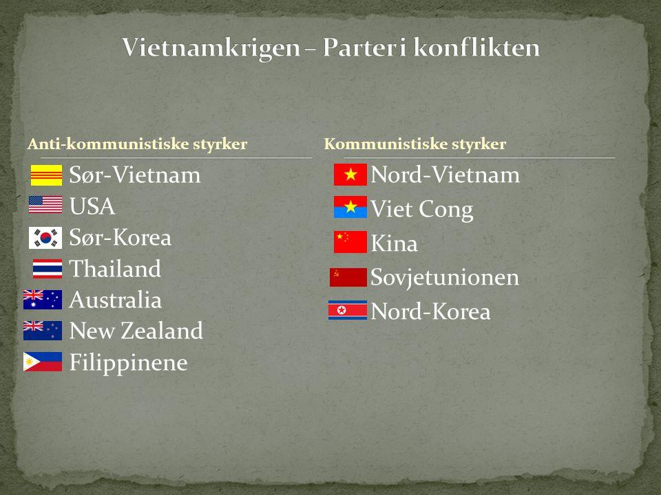 Vietnamkrigen – Parter i konflikten