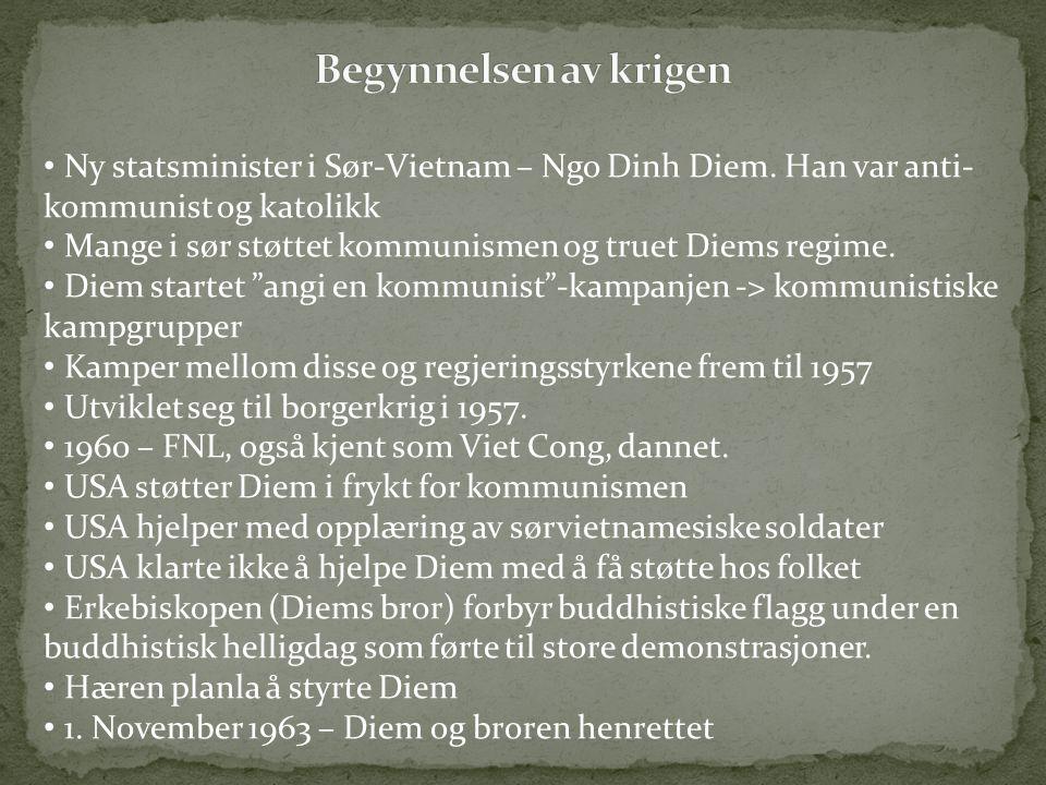 Ny statsminister i Sør-Vietnam – Ngo Dinh Diem