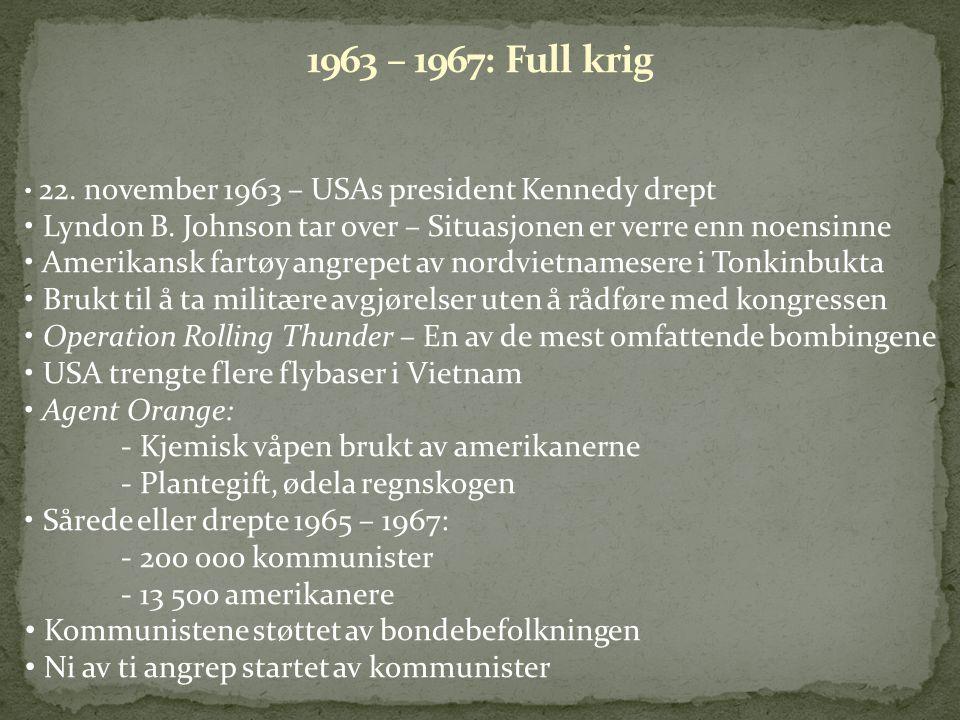 22. november 1963 – USAs president Kennedy drept