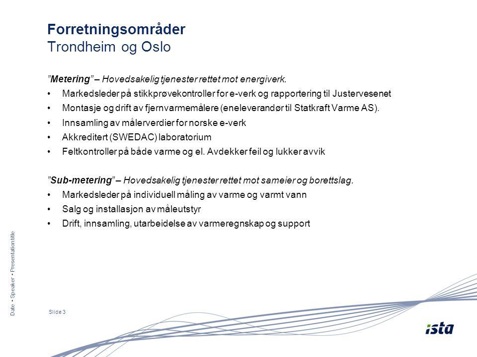Forretningsområder Trondheim og Oslo