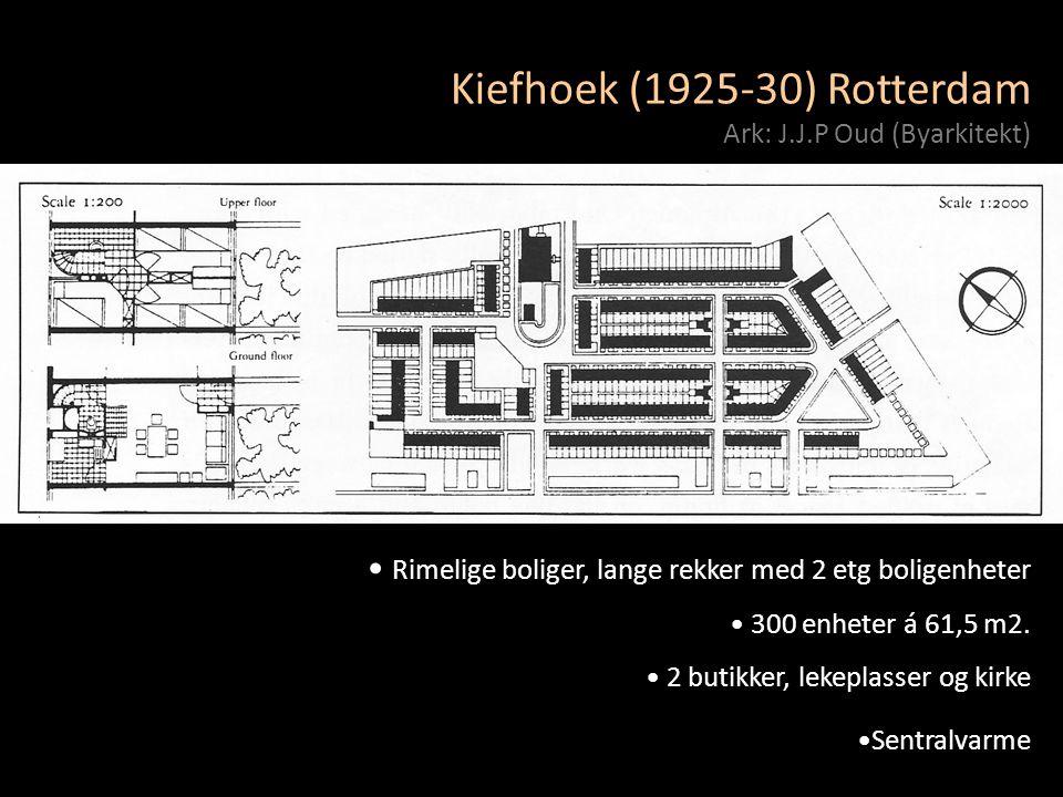 Kiefhoek (1925-30) Rotterdam Ark: J.J.P Oud (Byarkitekt)