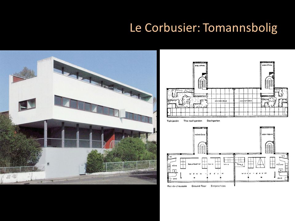 Le Corbusier: Tomannsbolig