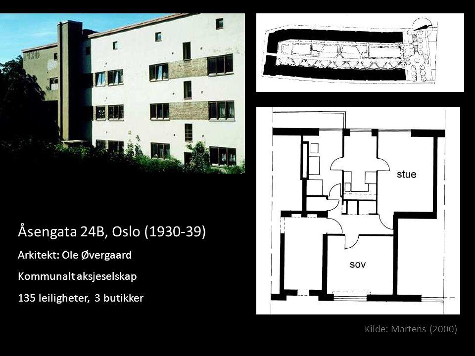 Åsengata 24B, Oslo (1930-39) Arkitekt: Ole Øvergaard