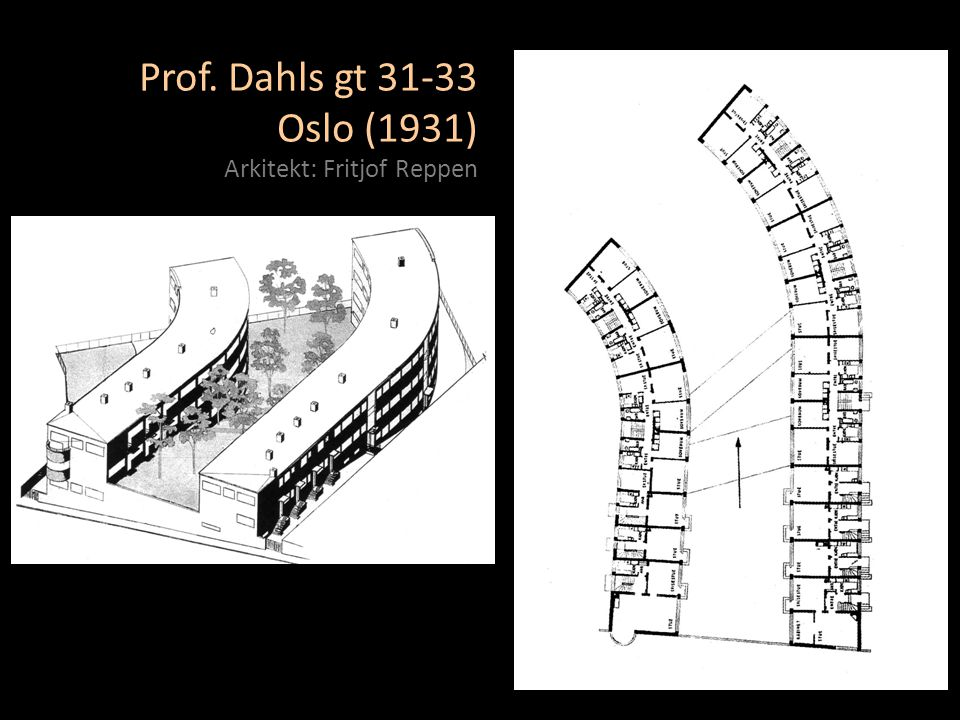 Prof. Dahls gt 31-33 Oslo (1931) Arkitekt: Fritjof Reppen