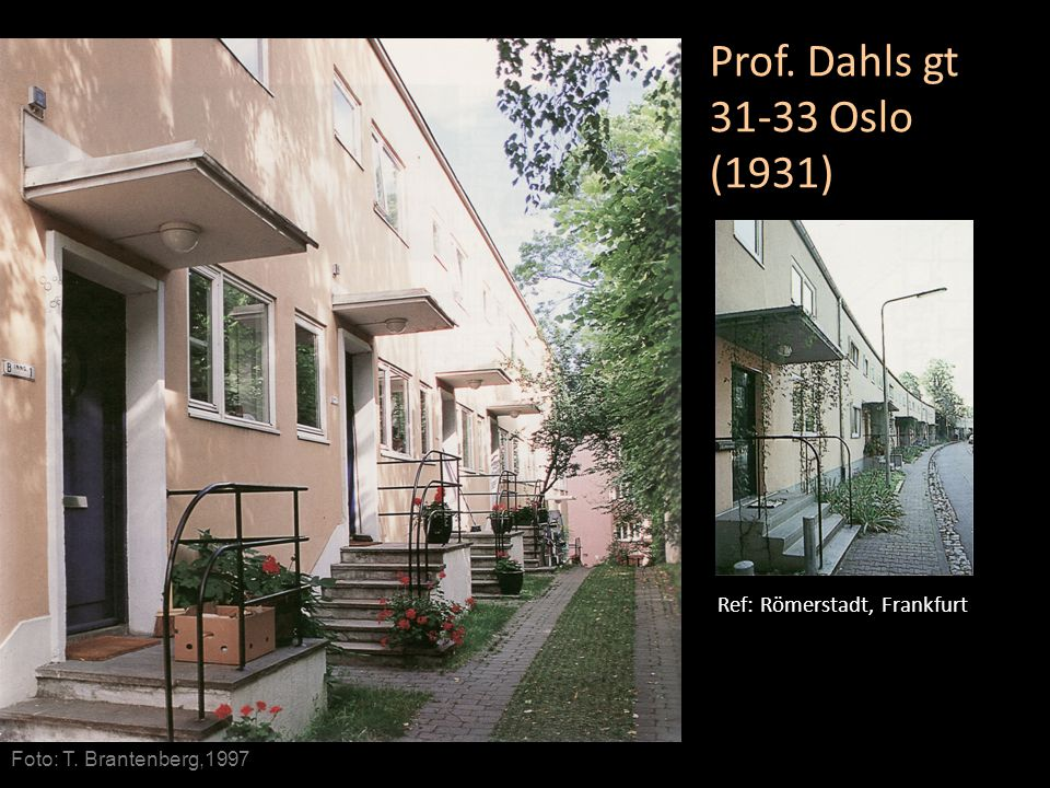 Prof. Dahls gt 31-33 Oslo (1931) Ref: Römerstadt, Frankfurt