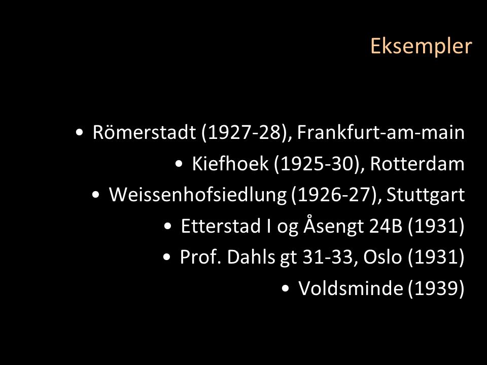 Eksempler Römerstadt (1927-28), Frankfurt-am-main