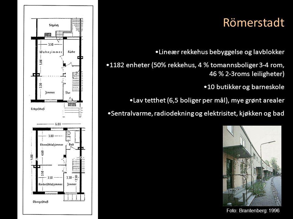 Römerstadt Lineær rekkehus bebyggelse og lavblokker