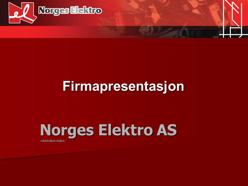 Norges Elektro AS -elektriker i tiden-