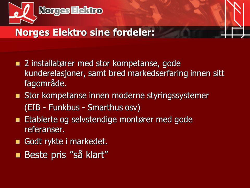 Norges Elektro sine fordeler: