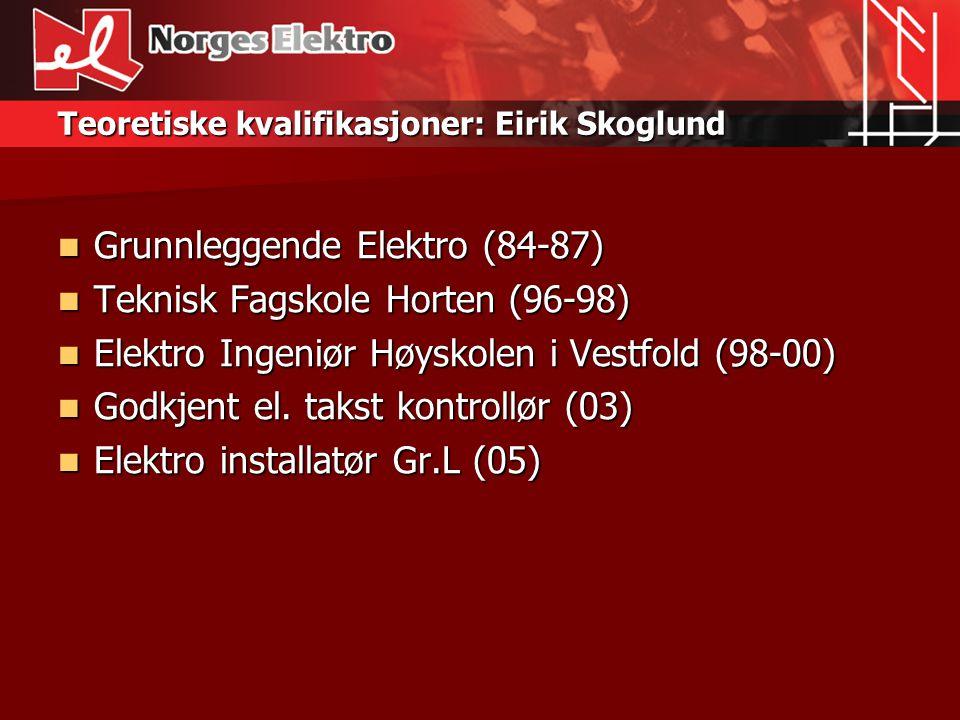 Teoretiske kvalifikasjoner: Eirik Skoglund