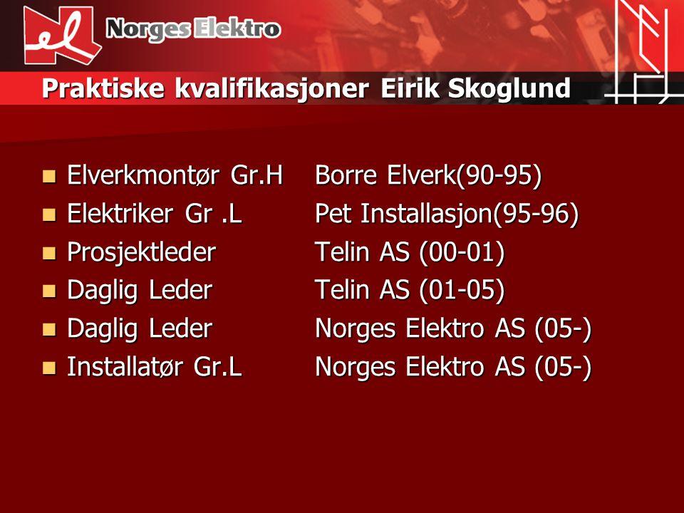 Praktiske kvalifikasjoner Eirik Skoglund