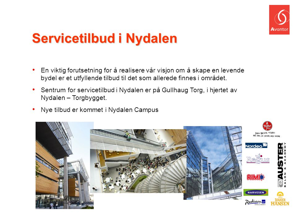 Servicetilbud i Nydalen