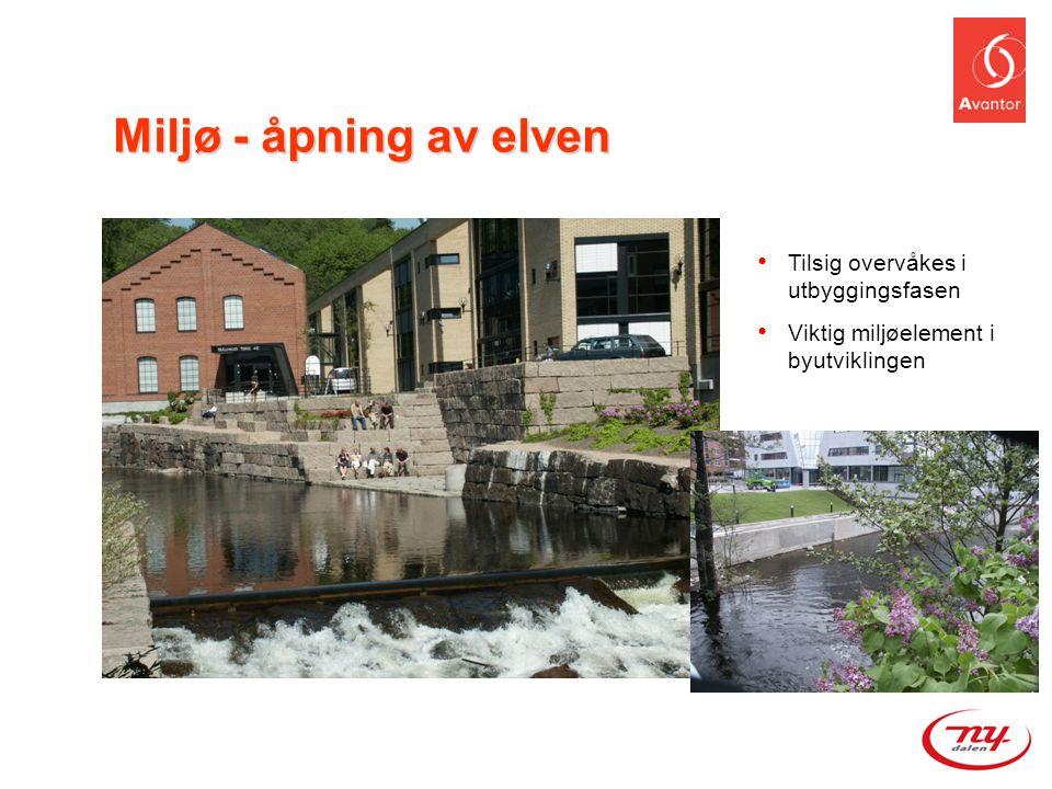 Miljø - åpning av elven Tilsig overvåkes i utbyggingsfasen