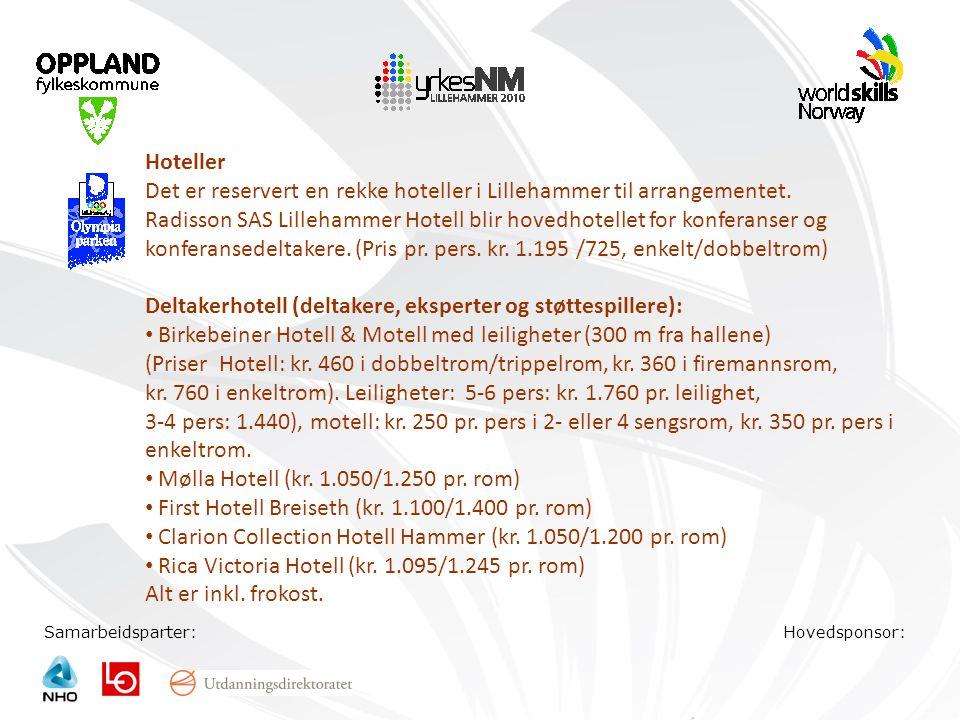 Det er reservert en rekke hoteller i Lillehammer til arrangementet.