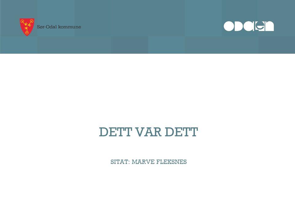 DETT VAR DETT SITAT: MARVE FLEKSNES