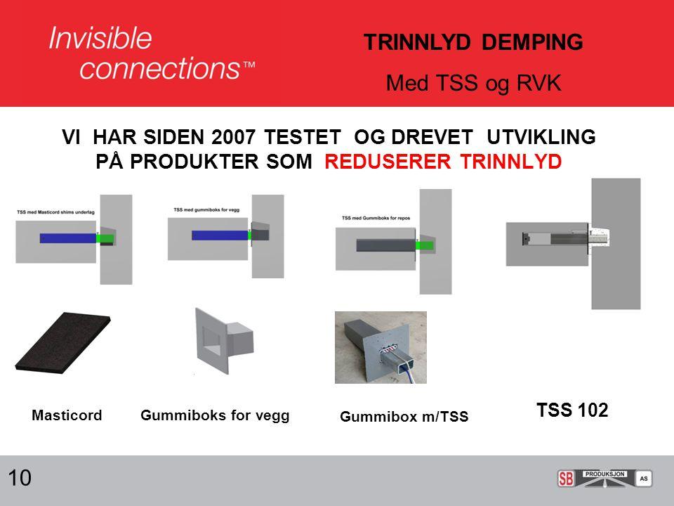 TRINNLYD DEMPING Med TSS og RVK 10