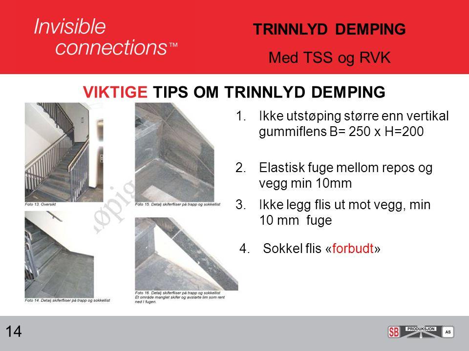 VIKTIGE TIPS OM TRINNLYD DEMPING