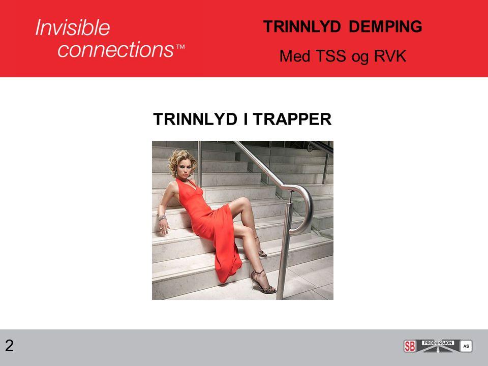 TRINNLYD DEMPING Med TSS og RVK TRINNLYD I TRAPPER 2