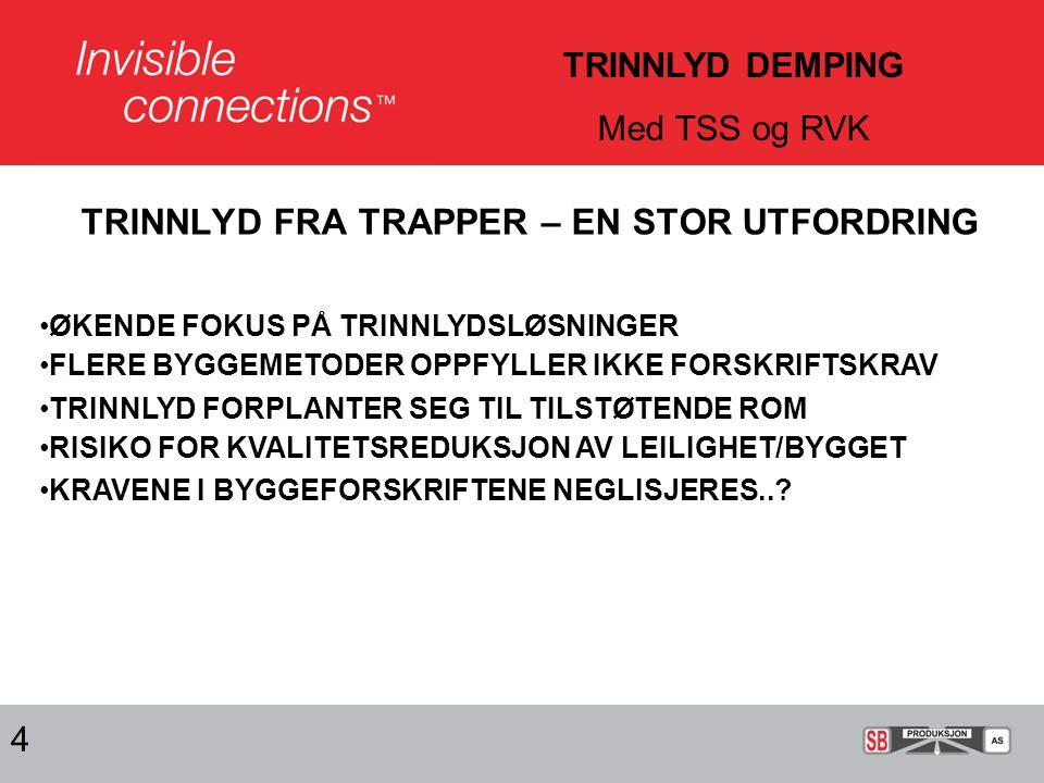 TRINNLYD FRA TRAPPER – EN STOR UTFORDRING
