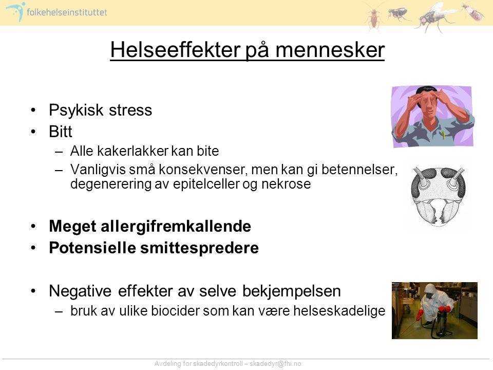 Helseeffekter på mennesker