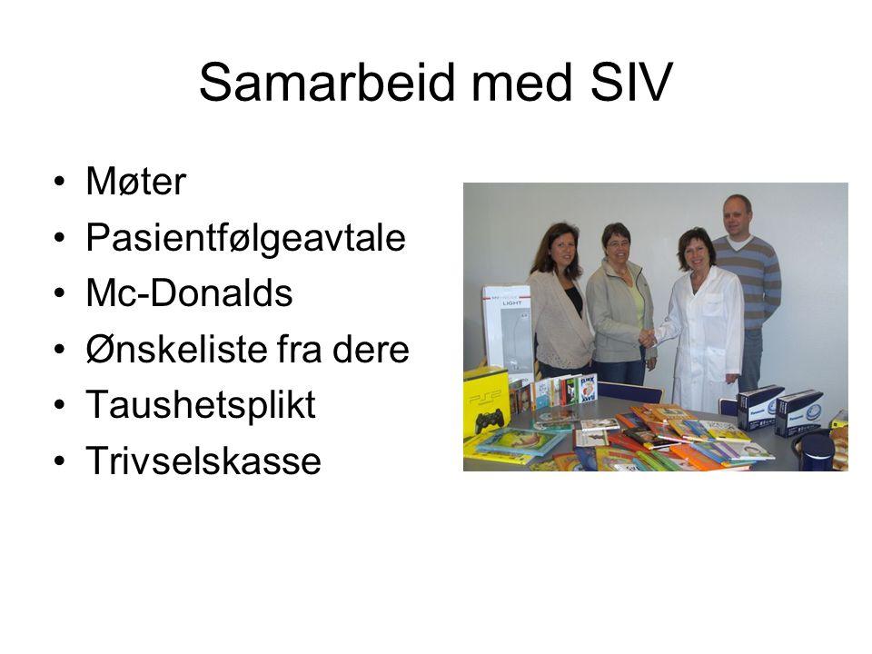 Samarbeid med SIV Møter Pasientfølgeavtale Mc-Donalds