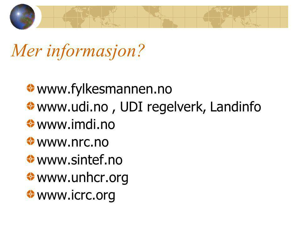Mer informasjon www.fylkesmannen.no