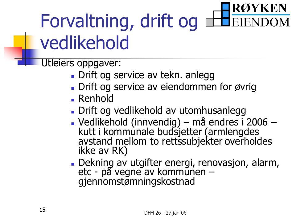 Forvaltning, drift og vedlikehold