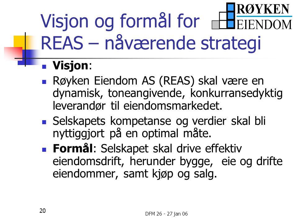 Visjon og formål for REAS – nåværende strategi
