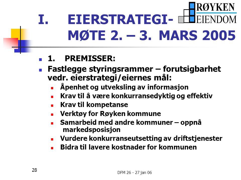 EIERSTRATEGI- MØTE 2. – 3. MARS 2005