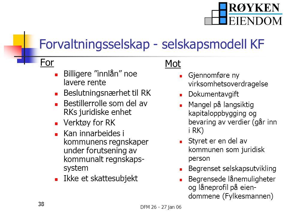 Forvaltningsselskap - selskapsmodell KF