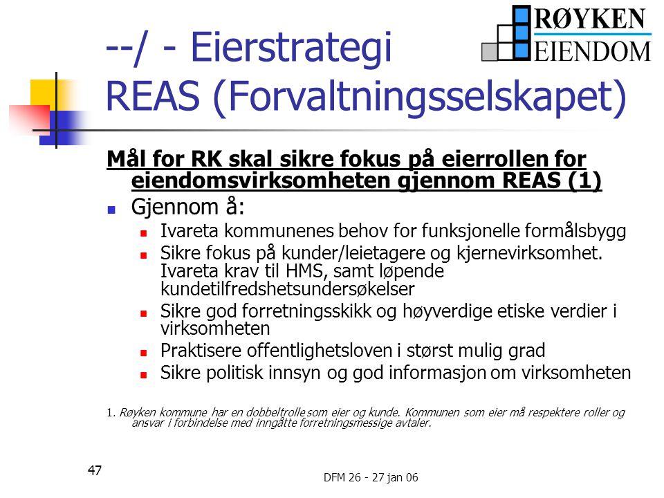 --/ - Eierstrategi REAS (Forvaltningsselskapet)