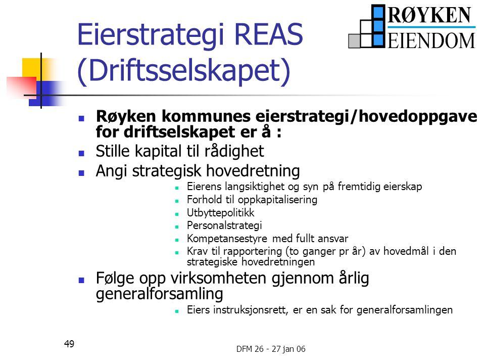 Eierstrategi REAS (Driftsselskapet)