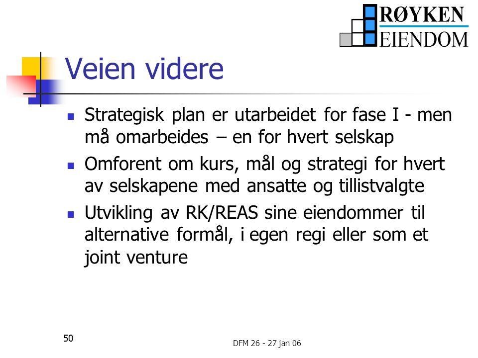 Veien videre Strategisk plan er utarbeidet for fase I - men må omarbeides – en for hvert selskap.