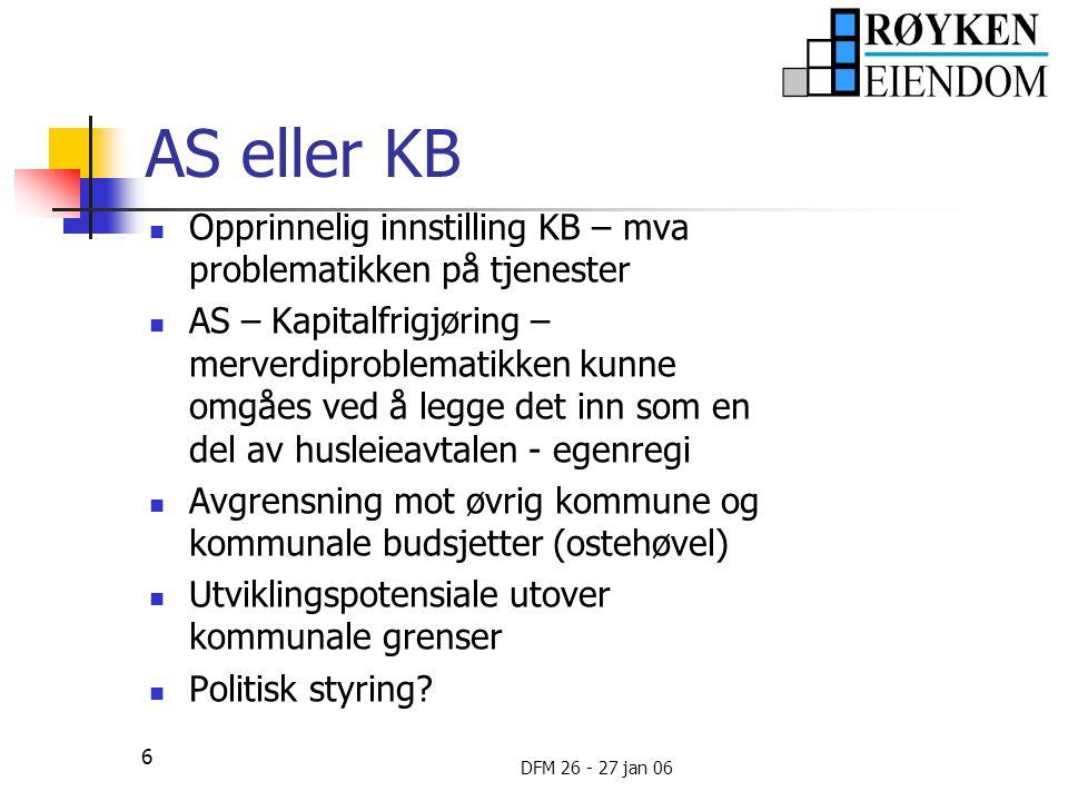 AS eller KB Opprinnelig innstilling KB – mva problematikken på tjenester.