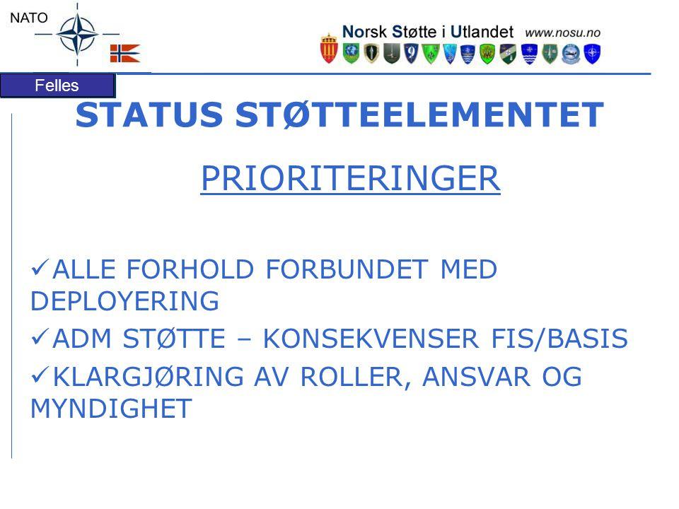 STATUS STØTTEELEMENTET