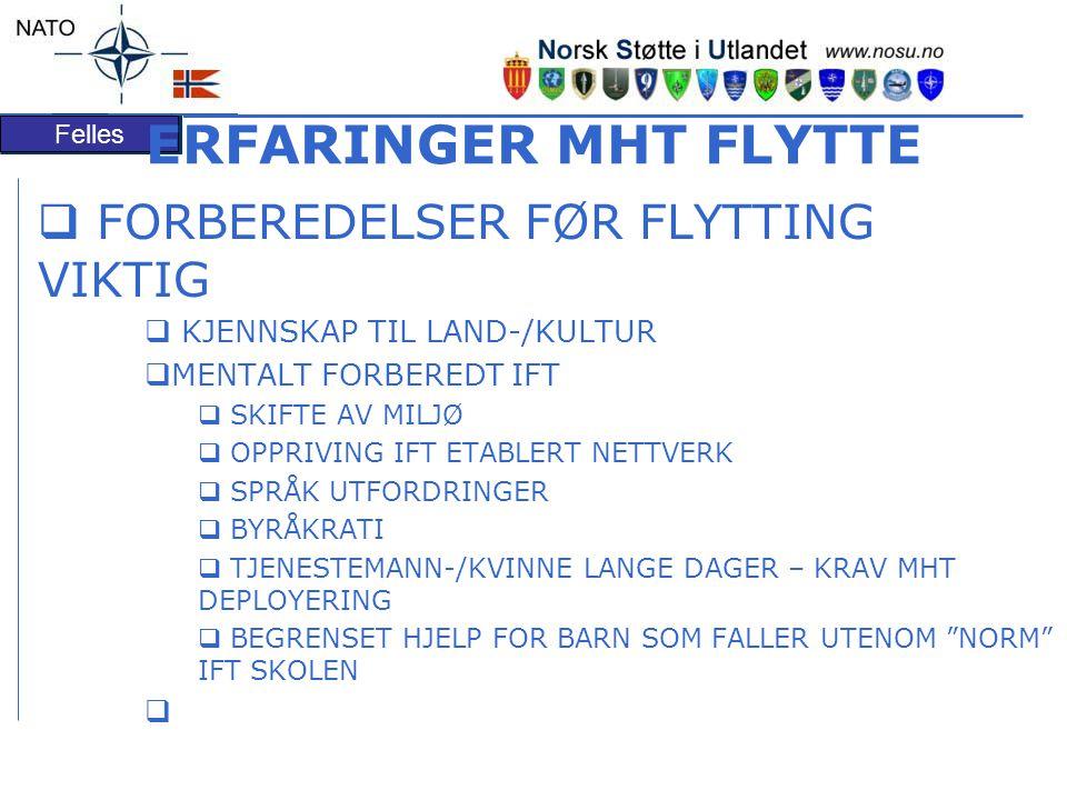 ERFARINGER MHT FLYTTE FORBEREDELSER FØR FLYTTING VIKTIG