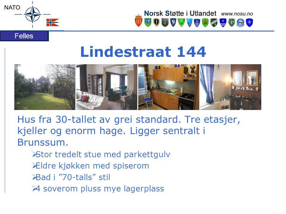 Lindestraat 144 Hus fra 30-tallet av grei standard. Tre etasjer, kjeller og enorm hage. Ligger sentralt i Brunssum.