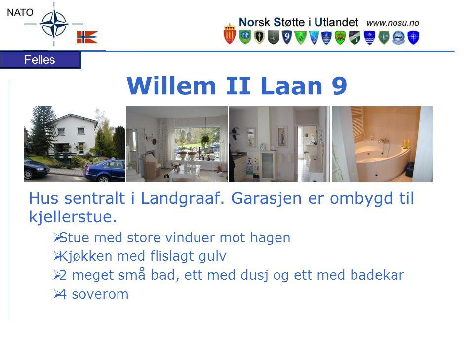 Willem II Laan 9 Hus sentralt i Landgraaf. Garasjen er ombygd til kjellerstue. Stue med store vinduer mot hagen.
