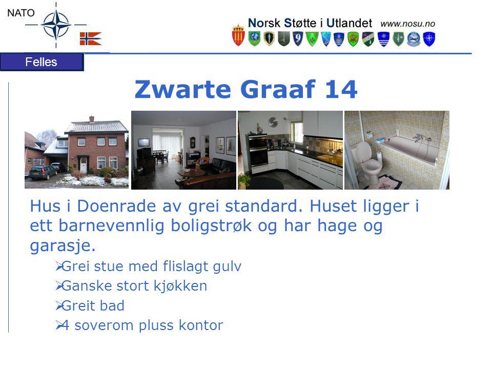 Zwarte Graaf 14 Hus i Doenrade av grei standard. Huset ligger i ett barnevennlig boligstrøk og har hage og garasje.
