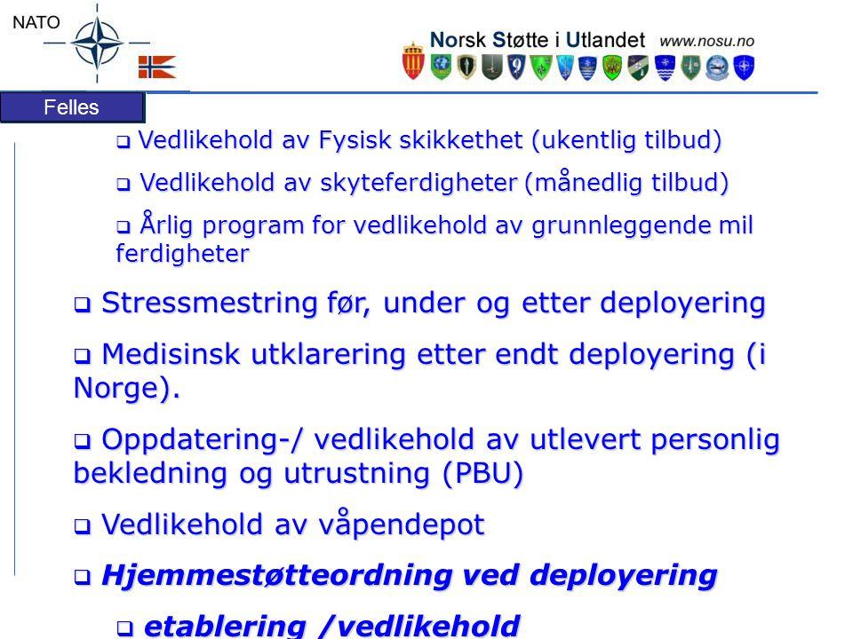 Stressmestring før, under og etter deployering