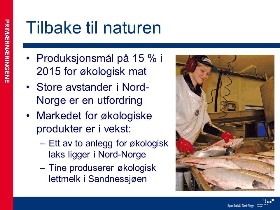 Tilbake til naturen Produksjonsmål på 15 % i 2015 for økologisk mat