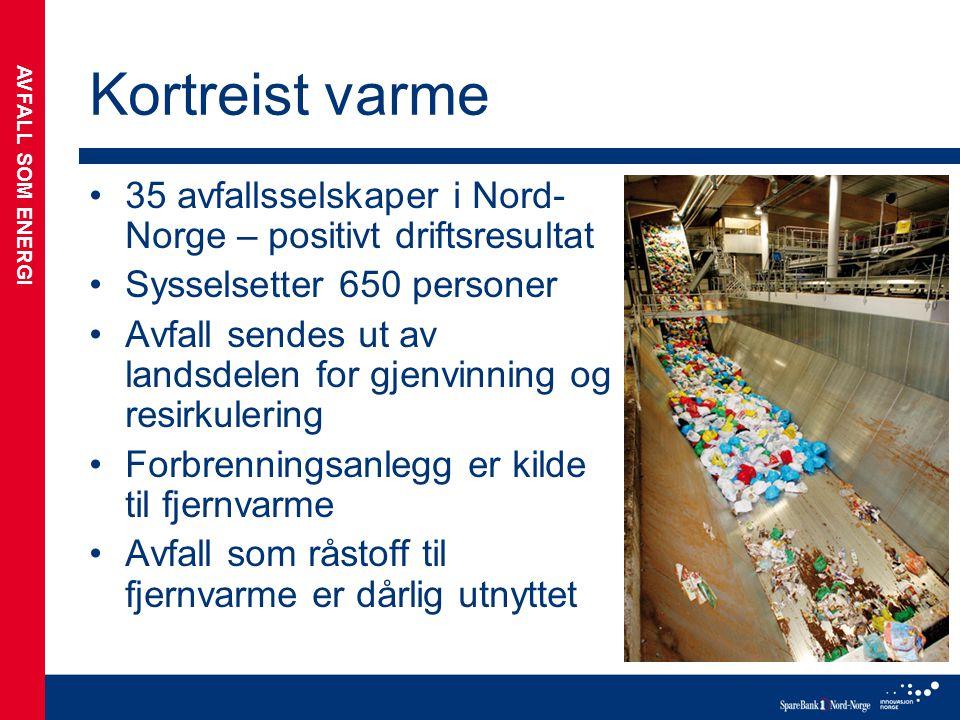 Kortreist varme 35 avfallsselskaper i Nord-Norge – positivt driftsresultat. Sysselsetter 650 personer.