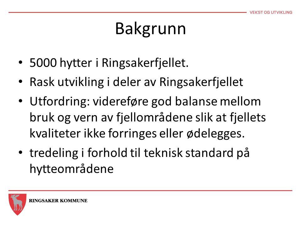 Bakgrunn 5000 hytter i Ringsakerfjellet.