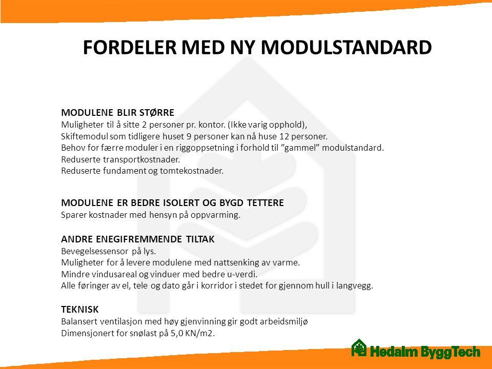 FORDELER MED NY MODULSTANDARD