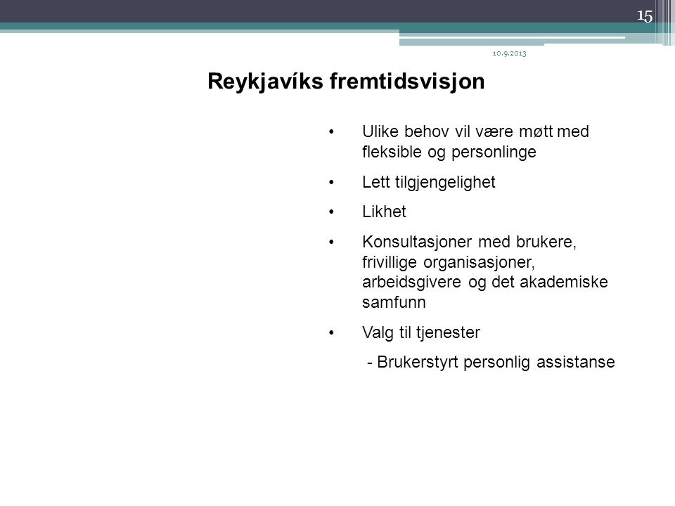 Reykjavíks fremtidsvisjon